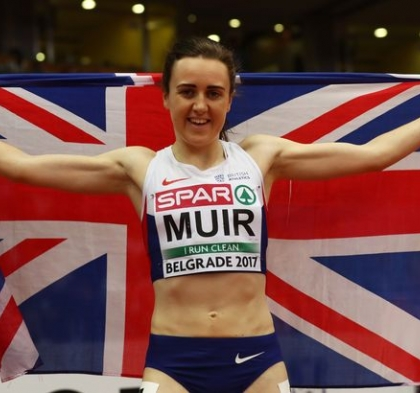 Record-breaking double for Scotland's Laura Muir