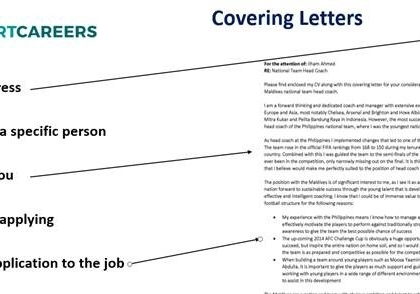 How to structure a good covering letter